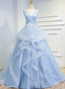 light blue sweet 16 gown