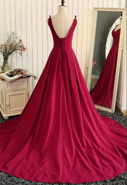 Red Fashionable Long Evening Gown, Red Prom Dress 2020