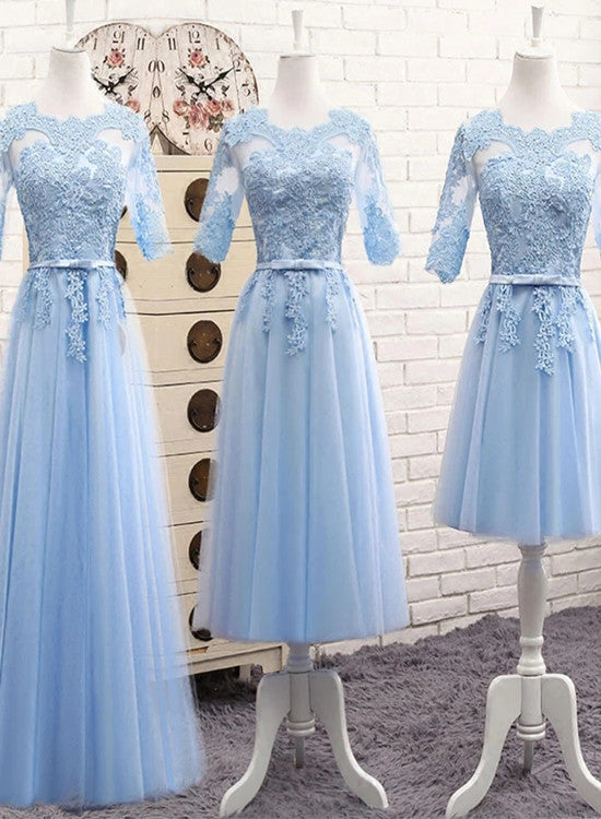 blue wedding party dress
