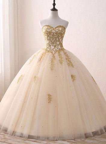 champagne tulle sweet 16 dress