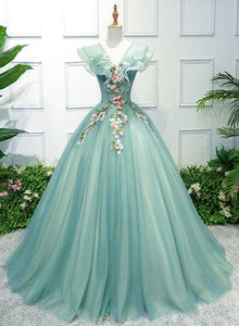 green sweet 16 dresses