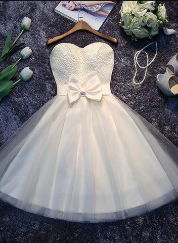 cute tulle short party dress