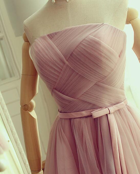 Cute Pink Tulle Short Prom Dress , Lovely Homecoming Dress