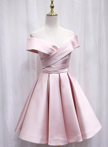 pink off shoulder party dress