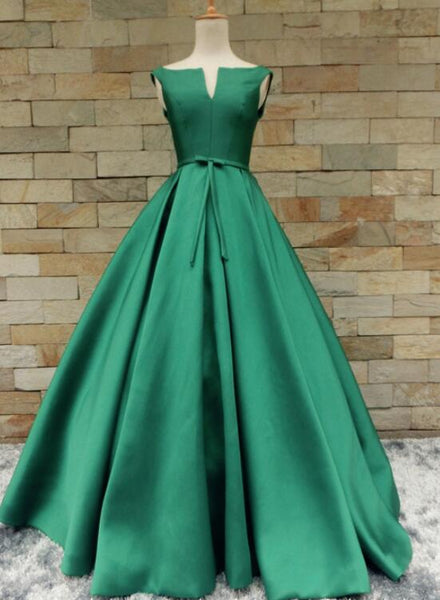 Gorgeous Satin Long Party Dress 2020, Junior Prom Dress