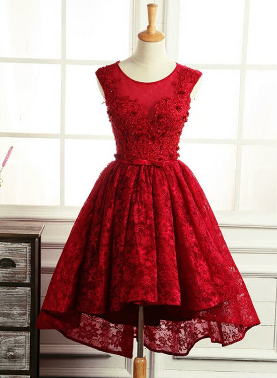 dark red homecoming dress