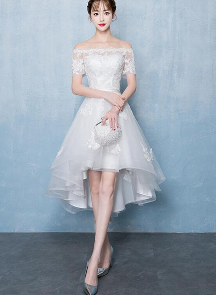 high low tulle homecoming dress
