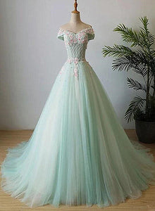 Green tulle sweet 16 dresses
