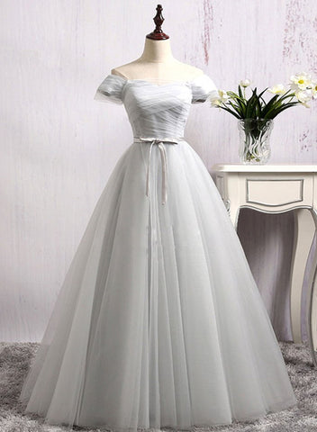 Grey tulle party dress