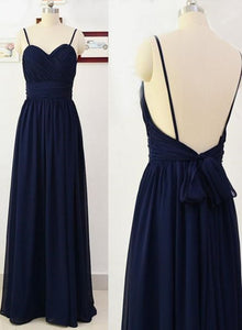 navy blue simple party dress