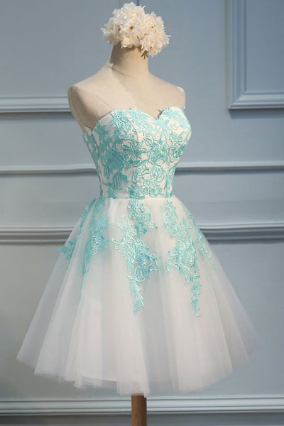 Adorable  White Tulle Sweetheart Tulle Party Dress 2019, Homecoming Dress 2019, Lovely Party Dress
