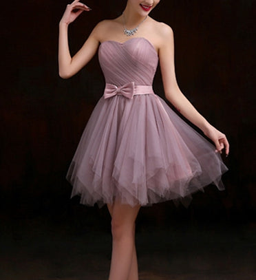 Lovely Cute Knee Length Tulle Formal Dress, Simple Short Junior Prom Dress