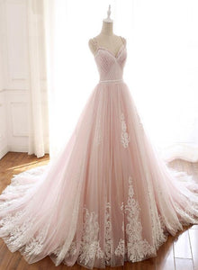 Glam Pink Tulle Sweetheart Straps Princess Formal Dress, Pink Party Dress