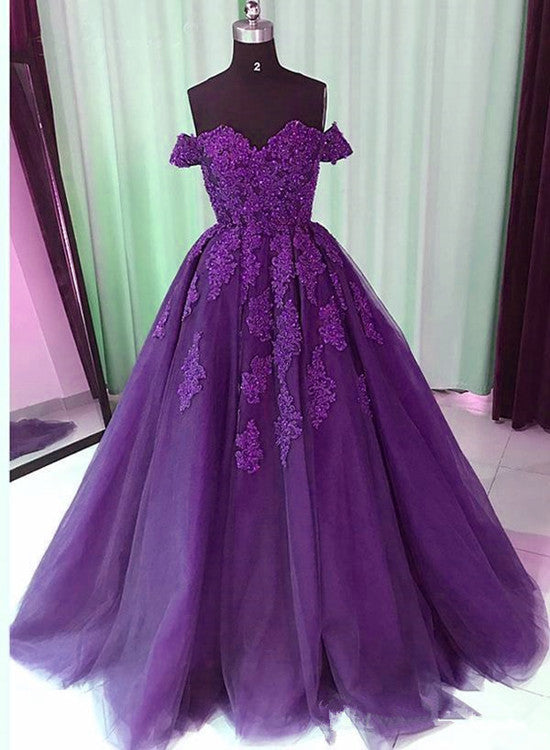 dark ourple prom dress