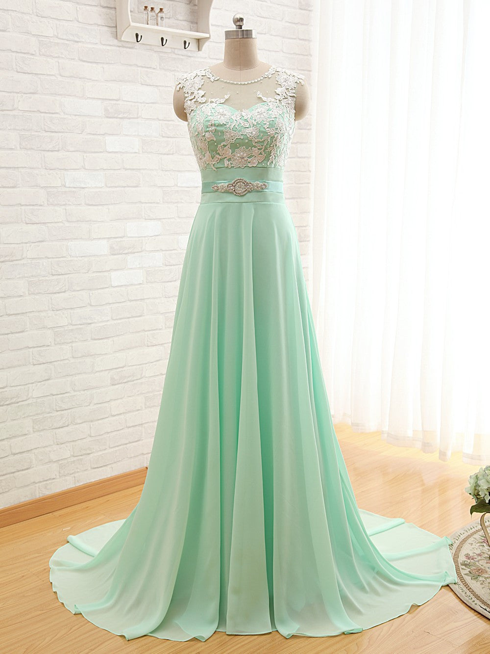 mint green party dress 2020