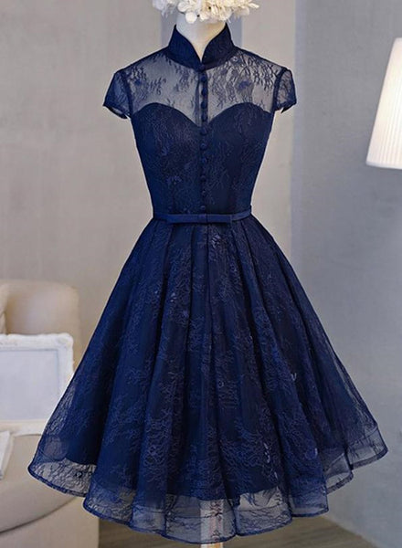 navy blue homecoming dress