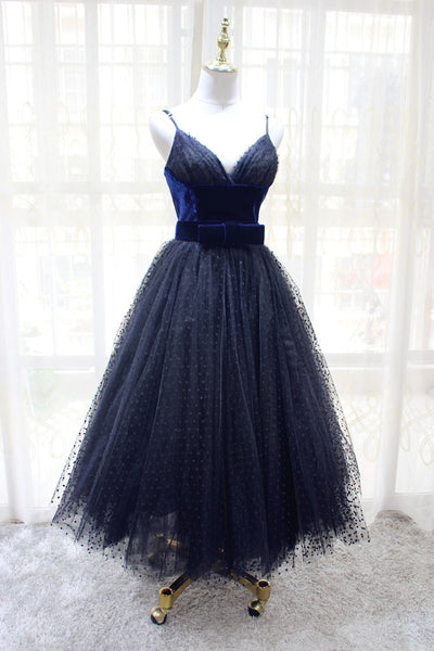 Gorgeous Black Tea Length Formal Dress, Lovely Party Dress 2019