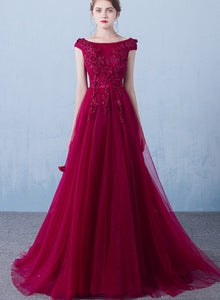 wine red prom dress 2020