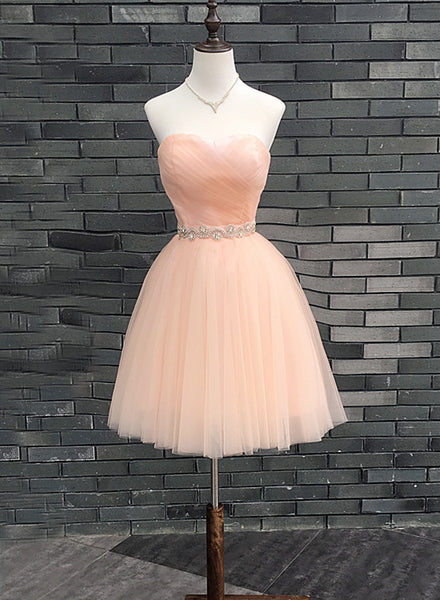 Cute Pearl Pink Knee Length Sweetheart Homecoming Dress, Lovely Formal Dress