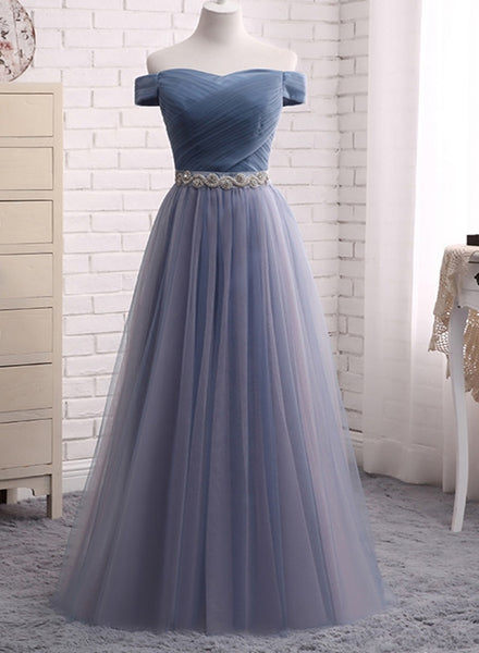 beautiful grey tulle prom dress 2020