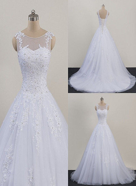 Glam White Tulle Puffy Ball Gown Prom Dress, Sweetheart 16 Gown