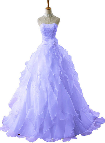 charming organza sweet 16 dress