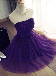 Cute Purple Tulle Short Party Dress, Lovely Teen Party Dress