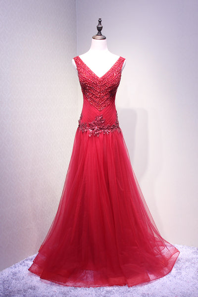 Beautiful Tulle Sequins New Style Prom Dresses 2019, Charming Party Gowns 2019