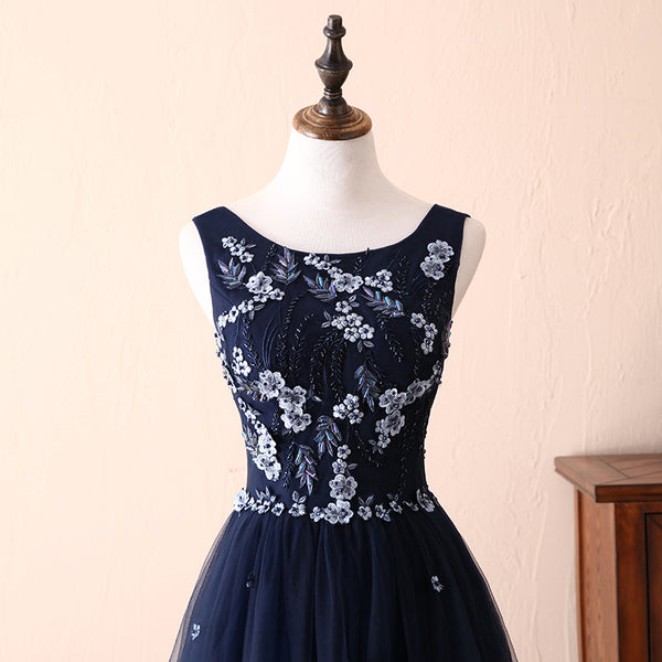Charming Navy Blue Wedding Party Dresses, Prom Gowns 2019
