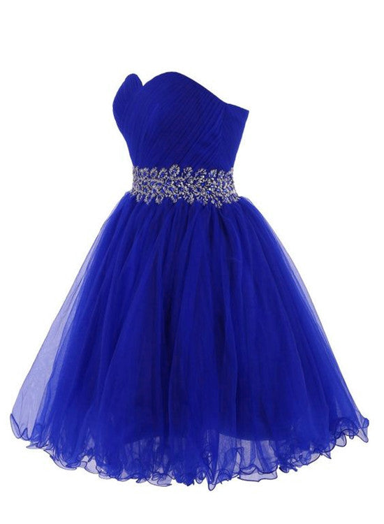 blue sweetheart homecoming dress