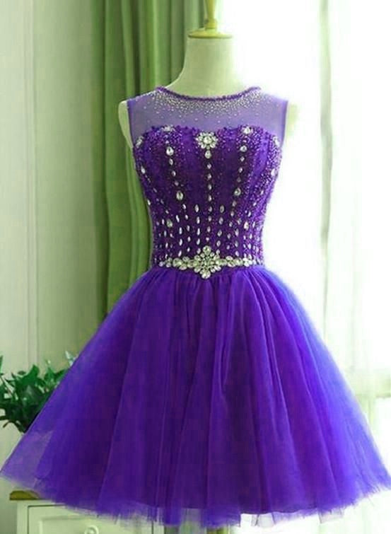 DARK PURPLE HOMECOMING DRESS