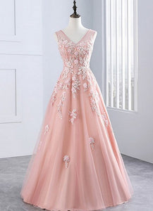 pink tulle party dress