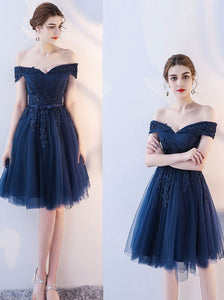 navy blue short party dress