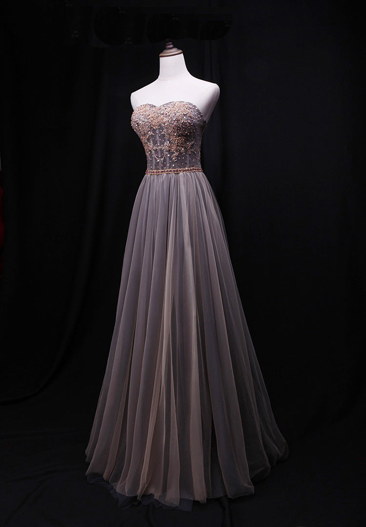 tulle long party dress