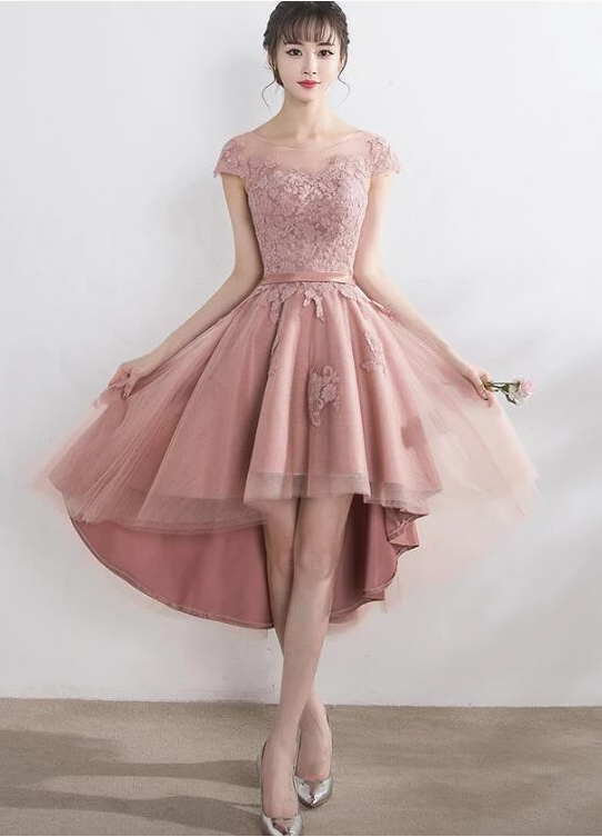 pink chiffon bridesmaid dress