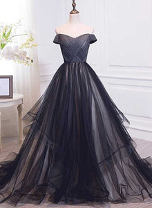 off shoulder long party dress