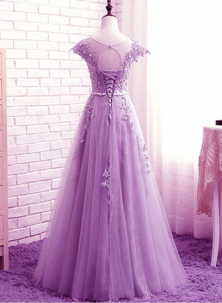 Beautiful Light Purple Long Party Dress, A-line New Prom Gown