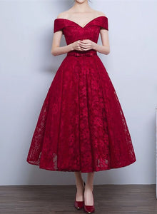 wine red lace bridesmaid dress 2020