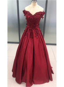 Charming Dark Red Long Sweetheart A-line Prom Dress, Wine Red Evening Gown