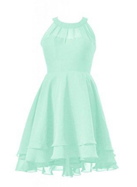 Mint green homecoming dress