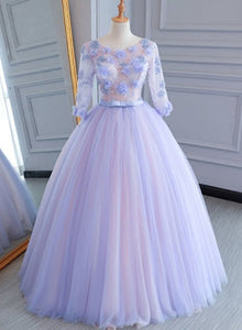 Charming Light Purple Long Sweet 16 Dress, Cute A-line Prom Gown