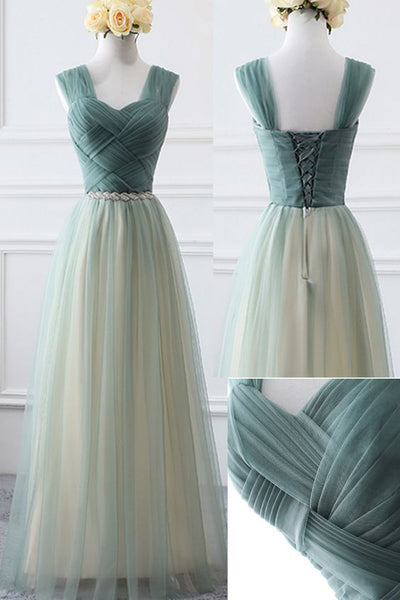 Lovely Short Straps Tulle Sweetheart Bridesmaid Dress, Cute Homecoming Dress