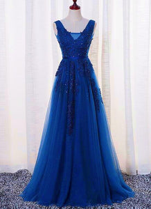 royal blue prom dress