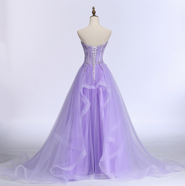 Fashionable Sweetheart Tulle Layers Long Party Dress, Cute Prom Dress