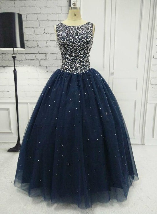 Beautiful Sparkle Beaded Ball Gown Formal Dress, Sweet 16 Dresses Prom Dress
