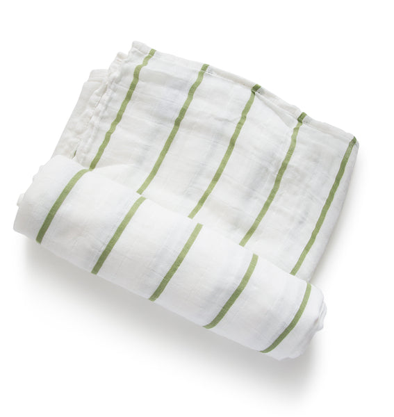 Sage Stripe Swaddle