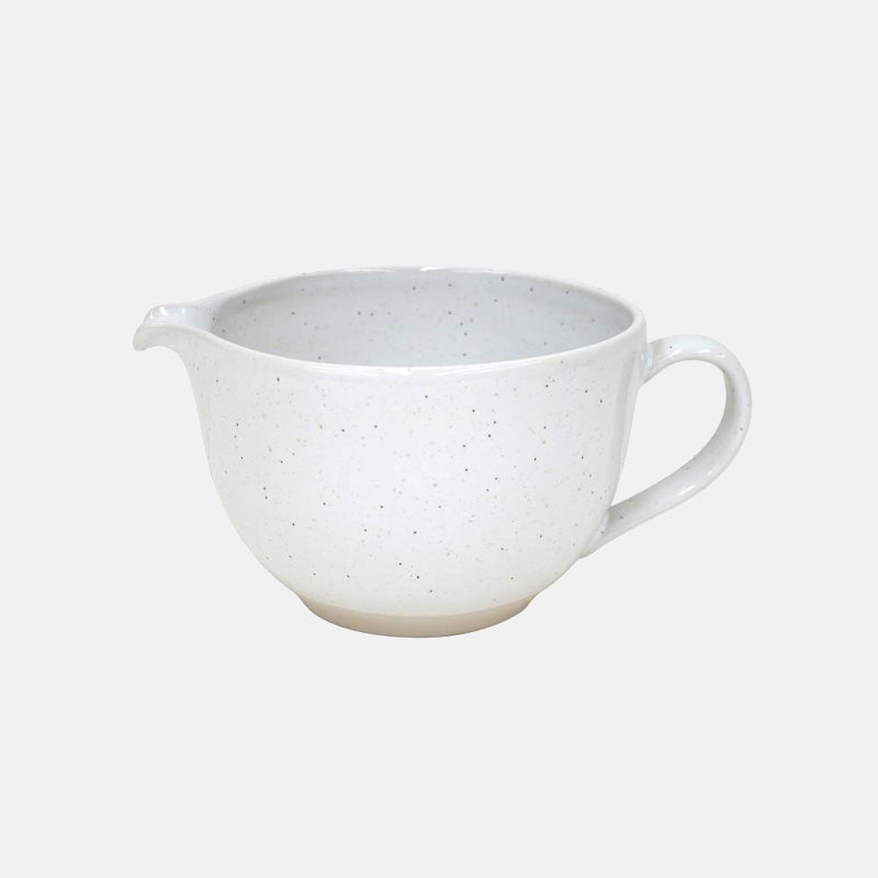 white ceramic batter bowl handmade