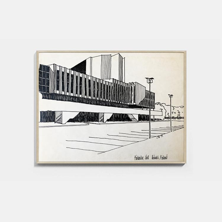 Finland Hall Architectural Print