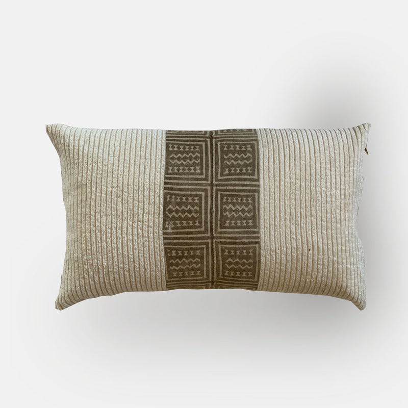 James Vintage Fabric Pillow Cover