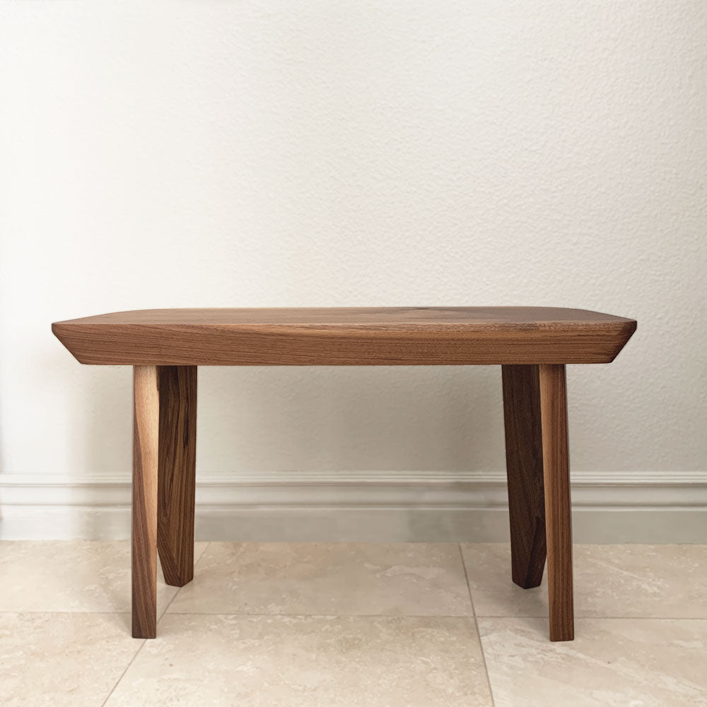walnut solid wood bench